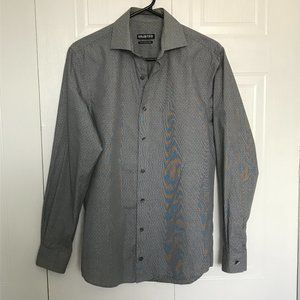 Unlisted kenneth Cole Grey & White Dress Shirt